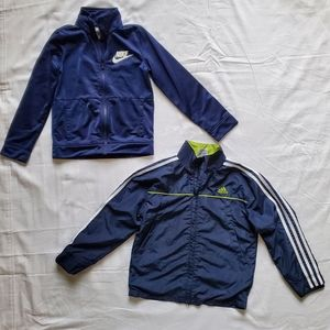 Nike and Adidas Kids Boys Zip Up Jackets